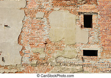 Ruined building wall background