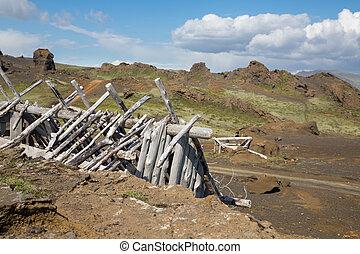 Ruined cabin