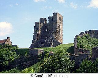 Ruined castle exterior