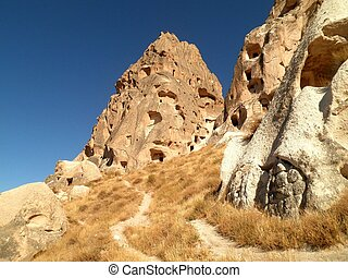 Ruined City in Cappadocia - Beautiful view of a ruined city...
