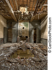 ruined house - Abandoned house destroyed by disaster