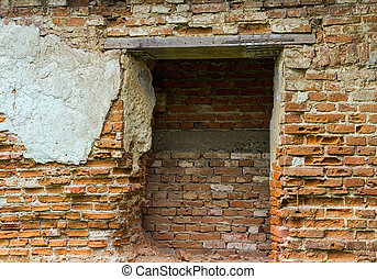 ruined old brick house
