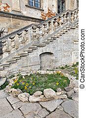 Ruined Pidhirtsi Castle in Western Ukraine.