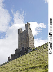 Ruined tower at Dunstanburgh - One of the riuned towers at...