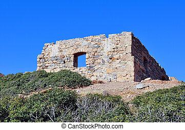 ruines anciennes, dans, crète, grèce