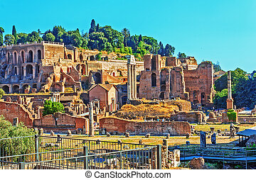 ruines anciennes, hdr, rome