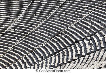 ruines,  Epidaurus, amphithéâtre