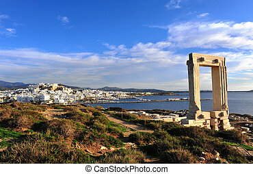 ruines, naxos, apollo, temple