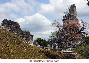 ruines, pyramide