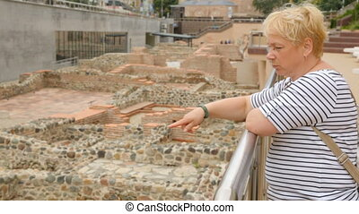 ruines, sofia, femme, serdica