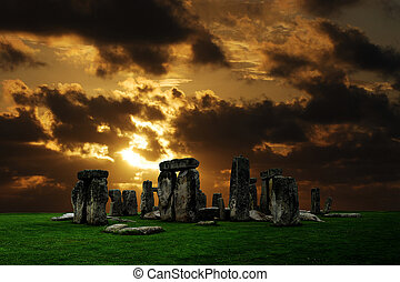 ruines, stonehenge