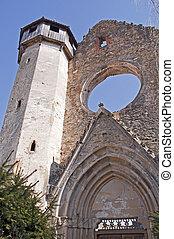 ruines, transylvania, carta