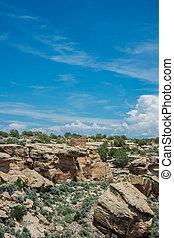 Ruins and Canyon at Hovenweep