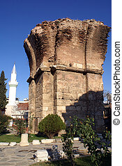 Ruins and mosque