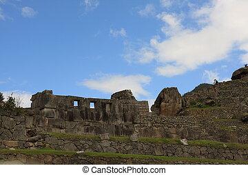 Ruins at Machu Picchu in South America.