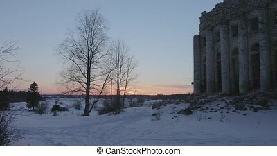 Ruins Church of the Holy Trinity in the village of Pyataya...