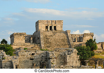 Ruins from ancient mayan civilization