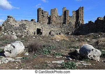 Ruins in Aspendos