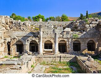 Ruins in Corinth, Greece