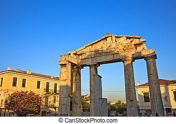 Ruins in Plaka area, Athens, Greece, 2009