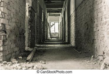 Ruins of a forgotten bath center with mineral water basins in Balvanyos, Transylvania, Romania