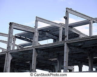 Ruins of a frame