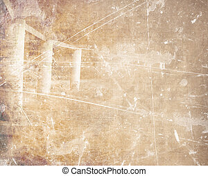 ruins of a lost civilization on a brown background