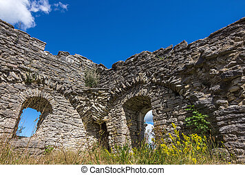 Ruins of an ancient church in Gotland, Sweden