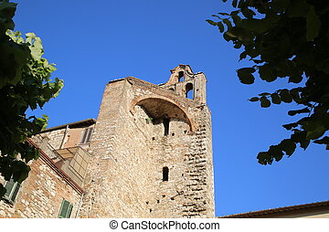 Ruins of an ancient church in the city of Narni
