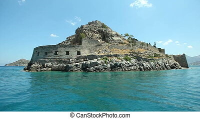 Ruins of an ancient fortress on the island of Spinalonga....