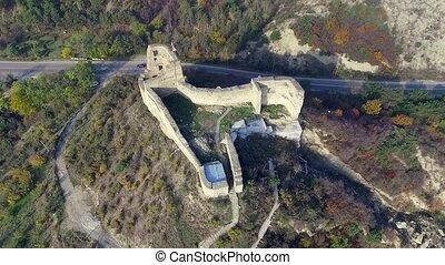 ruins of an old fortress on Kutaisi hill near Mtskheta