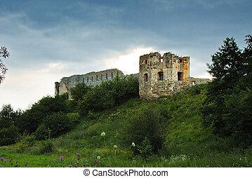 ruins of an old  Pniewski castle in Ukraine