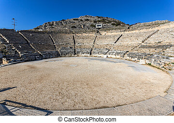 Ruins of Ancient amphitheater in the archeological area of...