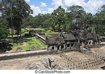Ruins of ancient Angkor temple Baphuon, Cambodia.