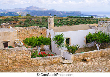 Ruins of ancient Aptera on Crete island, Greece