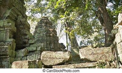 Ruins of ancient Buddhist temples of the 12th century....