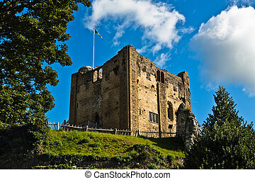 Ruins of ancient castle - Historic ruins of Guildford Castle...
