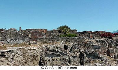 Ruins of ancient city Pompeii. Italy. Mediterranean Europe....