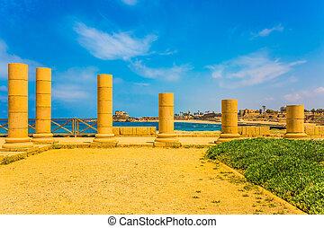 Ruins of ancient columns
