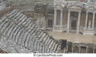 Ruins of ancient Greek-Roman amphitheatre in Myra, old name...