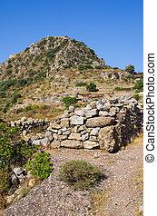 Ruins of ancient Polyrrinia, Crete island, Greece