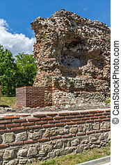 Ruins of ancient Roman fortifications in Diocletianopolis, town of Hisarya, Plovdiv Region