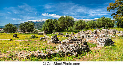 Ruins of Ancient Sparta in Greece