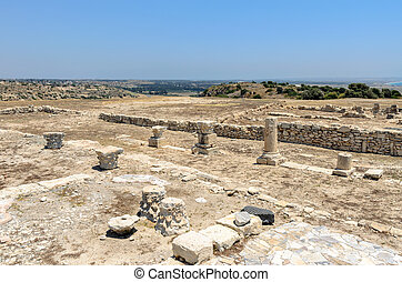 Ruins of ancient town on Cyprus