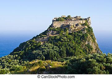 Ruins of Angelokastro fortress - Corfu island, Greece