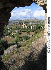 Ruins of aqueduct