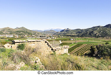 Ruins of Aspendos in Turkey
