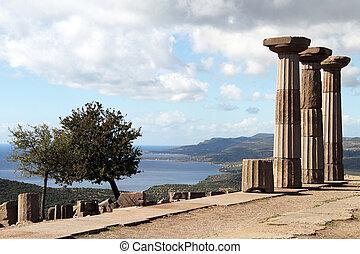 Athena temple - Ruins of Athena temple in Assos, Turkey