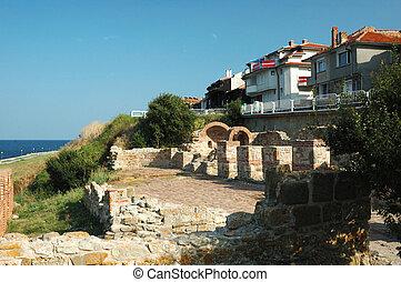 Ruins of Basilica in Nesebar