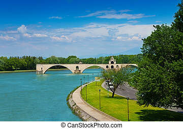 Ruins of bridge in Avignon, France